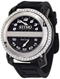 Watches : Ritmo Mundo Men's D201/4 BLK Diamond Persepolis Triple-Time Orbital Case Quartz Watch