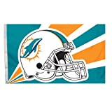 NFL Miami Dolphins 3-by-5 Foot Helmet Flag