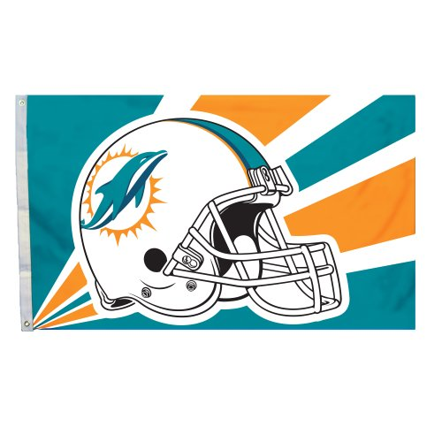 NFL Miami Dolphins 3-by-5 Foot Helmet - Dolphin Mall Miami