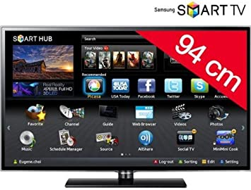 Televisor LED Smart TV UE37ES5500 + Soporte Negro: Amazon.es: Electrónica