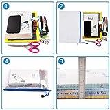 KATEVO Zipper File Bags, Pack of 5, 5 Colors