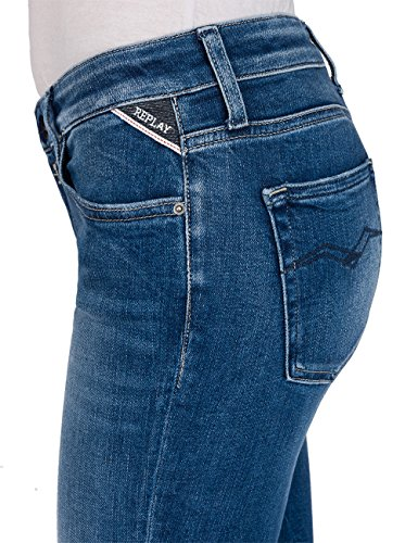 mid Zampa Donna Replay A 9 Denim Jeans Blu Blue FqEqwnXax