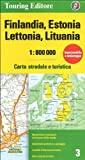 Finlandia, Estonia, Lettonia, Lituania 1:800.000. Carta stradale e turistica. Ediz. multilingue
