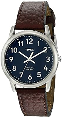 Timex Men's Easy Reader Leather Strap Watch