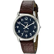 [Sponsored]Timex Men's T2P319 Easy Reader Brown Leather Strap Watch