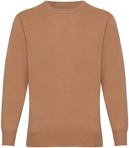 Mens Cashmere Round Neck Sweater by Lona Scott