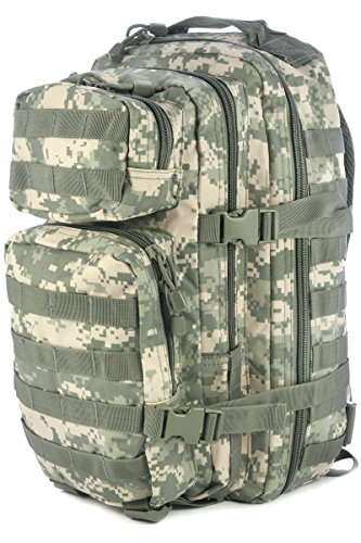 ( Mil-Tec Military Army Patrol Molle Assault Pack Tactical Combat Rucksack Backpack Bag 20L ACU Digital)