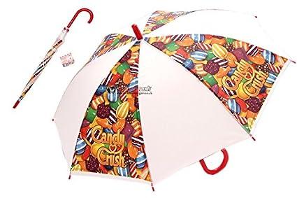 Nuevo Premium calidad King Candy Crush Saga paraguas resistente niños adultos dibujos animados