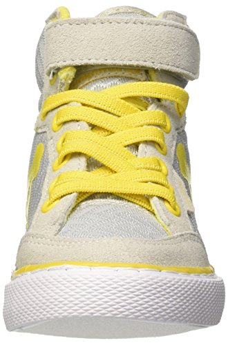 DrunknMunky Boston Wave, Zapatillas de Tenis Niños Grigio (Dark Grey/Yellow)