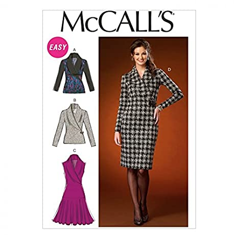 ce468a06f25d McCalls Ladies Easy Sewing Pattern 7016 Stretch Knit Tops   Dresses ...