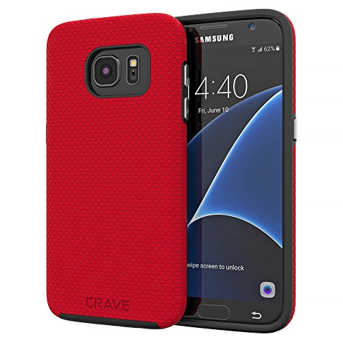 S7 Case, Crave Dual Guard Protection Series Case for Samsung Galaxy S7 - Red