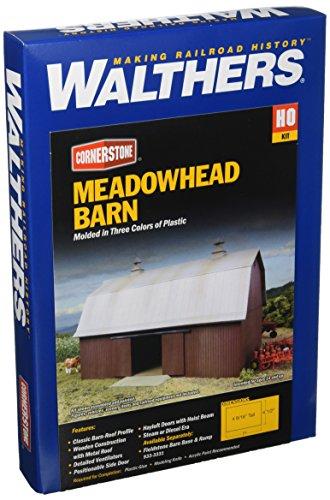Walthers Cornerstone  Rural USA - Meadowhead Barn Plastic Ki