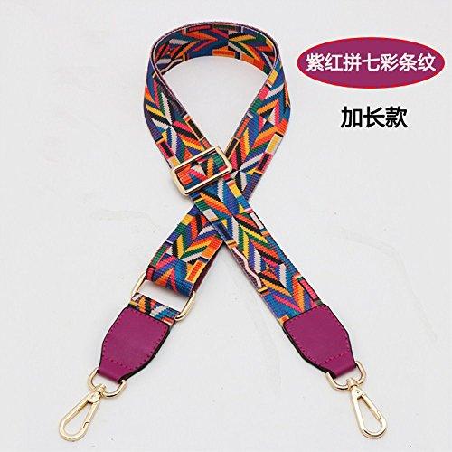 (Length 57 inches Violet Woven belt Wide 3.8cm Mini Purse/Shoulder/Cross Body Bag Replacement DIY Strap replacement purse strap)