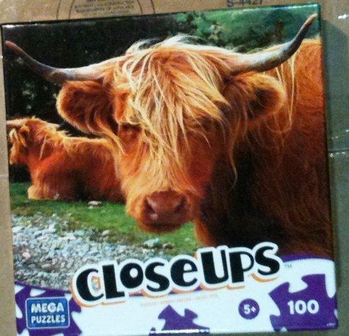 Closeups 100 Piece Puzzle-cattle by Mega Brands