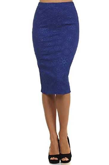 Amazon.com: Moa Print Short Knee Length Pencil Skirt: Clothing