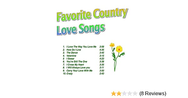 Favorite Country Love Songs By Various Artists On Amazon Music