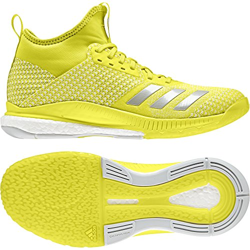 Adidas Chaussures 2 Argentã Mid Femme Volleyball Flash Crazyflight Jaune blanc X De gris rnOqxrIP
