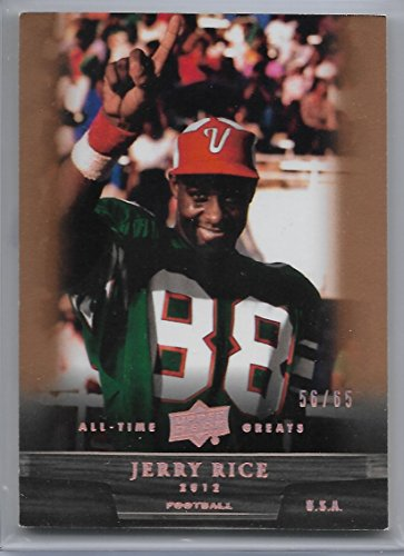 - 2012 Upper Deck All-Time Greats Jerry Rice Bronze Parallel Card # 56/65