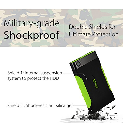 Silicon Power 2TB Rugged Armor A15 Military-grade Shockproof USB 3.0 2.5-inch Portable External Hard Drive by Silicon Power (Image #3)