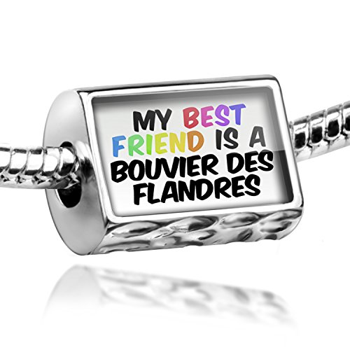 Charm My best Friend a Bouvier des Flandres Dog from Belgium - Bead Fit All Eur ()
