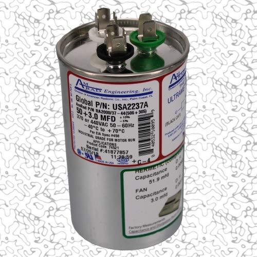 45 uf MFD 370 440 VAC ROUND Capacitor 12748 Replaces C345R C445R 97F9645 97F9619