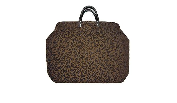 Forest Green Vines Chenille Carpet Bag