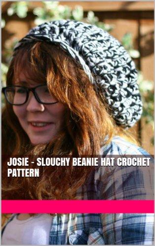(Josie - Slouchy beanie hat crochet pattern)
