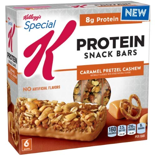 Special K Protein Trail Mix Snack Bars, Caramel Pretzel Cashew (Pack of 4)