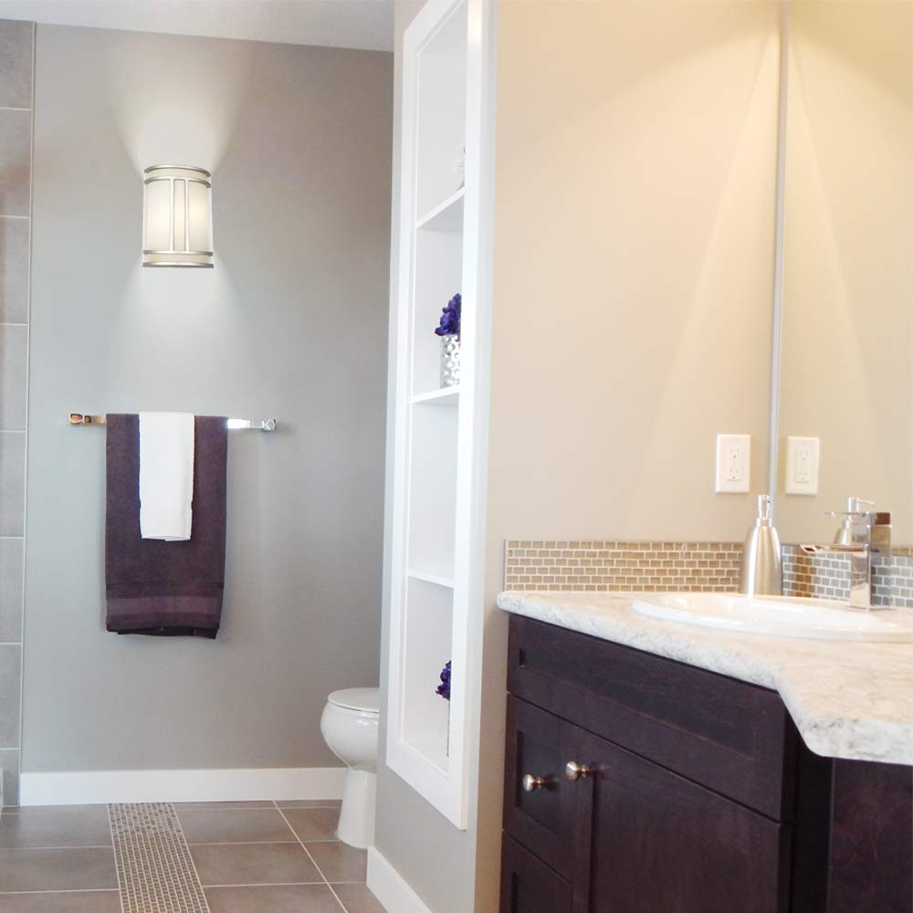 Design House Easton 2-Light Satin Nickel ADA Sconce