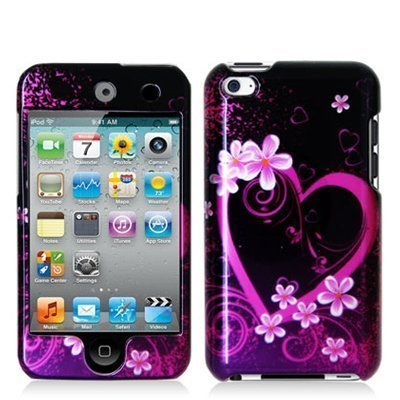 Importer520 Hard Snap-on Skin Case Cover Accessory for Ipod Touch 4th Generation 4g 4 8gb 32gb 64gb (Pink Heart)