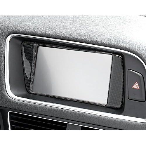 Carbon Fiber Console GPS Navigation Frame Trim Cover For