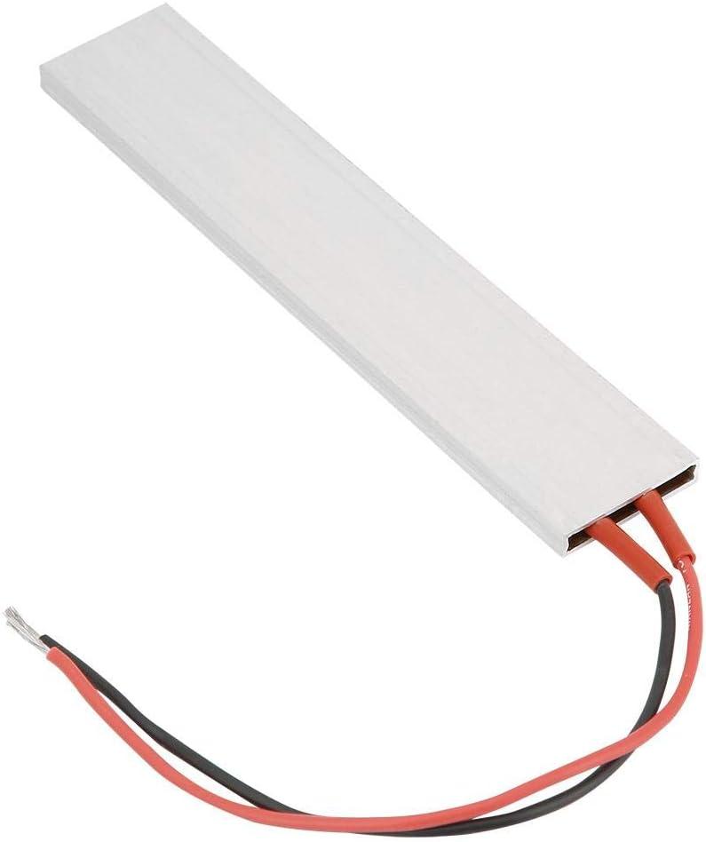 12V/24V/220V Aluminum PTC Heating Element, 70℃- 220℃ PTC Thermostat Heater Plate PTC Ceramic Air Heater Miniature Heating 15028.5mm(12V 70℃)