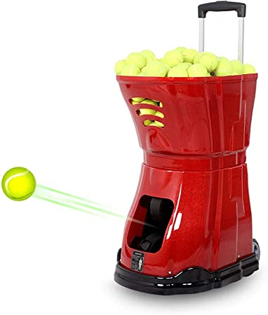 Noise Free Tennis Ball Machine 100m Remote Control Distance Various Modes Of Serving Wheeled Movement Lightweight Storage Smart Tennis Training Assistant Red Amazon Co Uk Kitchen Home