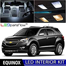 LEDpartsNOW Chevy Equinox 2010-2017 Xenon White Premium LED Interior Lights Package Kit (11 Pieces) + TOOL