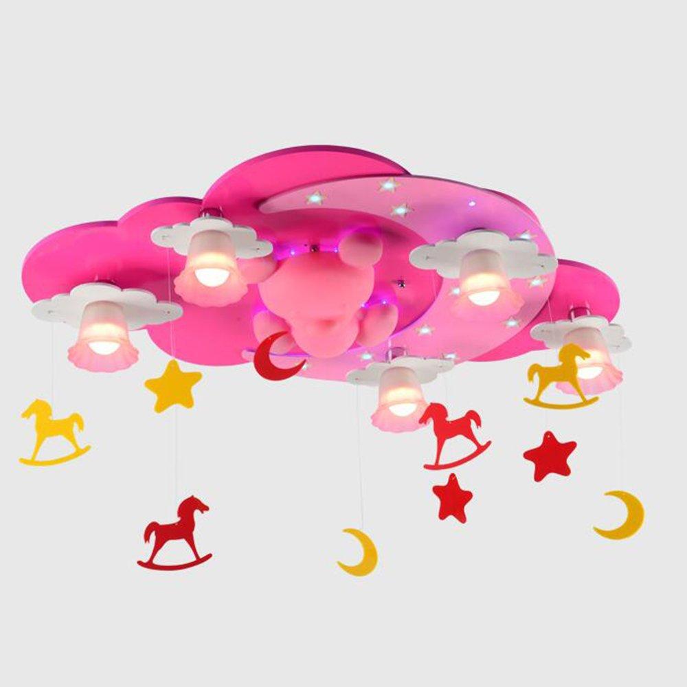 梁友 ライト屋内シャンデリア ランプ - 子供部屋かわいいクマクリエイティブ天井ランプ女の子の部屋漫画子寝室ランプ Liang Yu Light室内シャンデリア - 安い、ディスカウント価格 B07S4L2CJQ