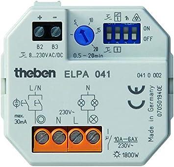 Theben elpa041 - Minutero escalera elpa041 montaje caja universal 16a: Amazon.es: Bricolaje y herramientas