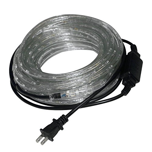 WALCUT 110V LED Rope Light PVC Rope Strip Light for Party, Christmas Home Decoration,Cool white