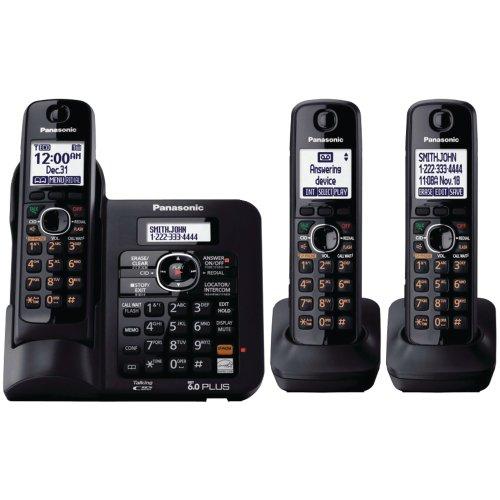 PANKXTG6643B - PANASONIC KX-TG6643B DECT 6.0 Rangeboost Cordless Phone (3-Handsets)