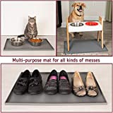 """Leashboss Splash Mat XL Dog Food Mat with Tall Lip, 25""""x17"""" Extra Large Dog Bowl Mat for Food and Water, Non Slip Waterproof Silicone Pet Food Mat for Dogs and Cats"""