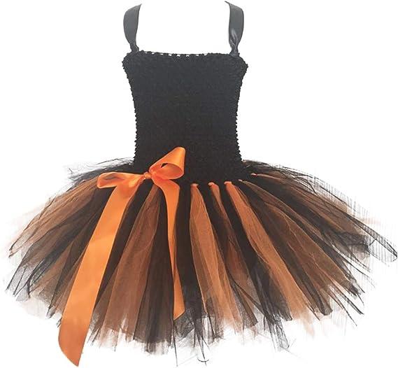 NUOBESTY Falda de Tutú de Halloween Vestido de Malla Falda de ...