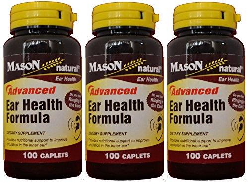 Mason naturelles avance oreille santé formule bioflavonoïdes Plus 100 comprimés par bouteille Pack de 3 Total 300 comprimés