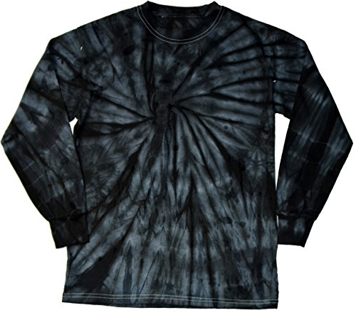 Colortone Tie Dye L/S 10-12 (MD) Spider Black