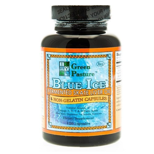 Blue Ice Fermented Skate Liver Oil 120 Caps  (Package may vary)