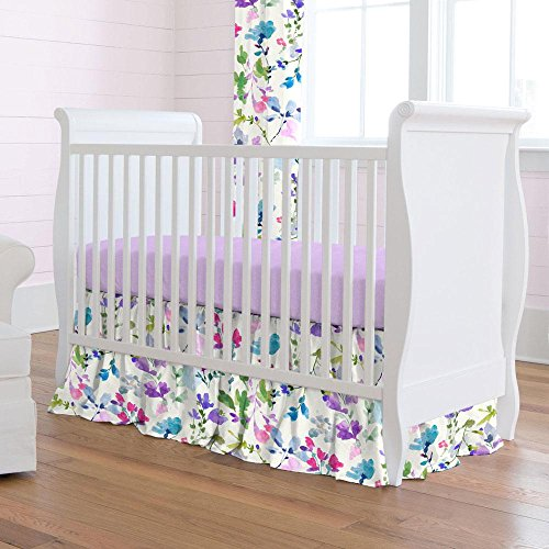 Carousel Designs Bright Wildflower Crib Skirt Gathered 14-Inch Length by Carousel Designs