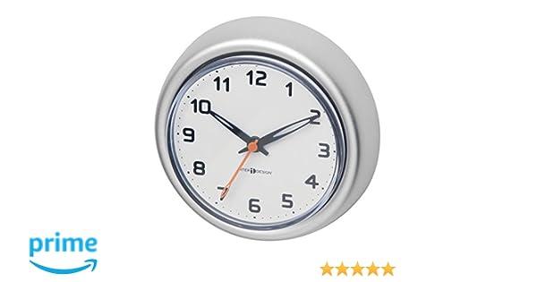 MetroDecor mDesign Reloj de baño con Ventosa - Reloj de Pared de Aluminio Inoxidable - El Accesorio para el baño Colocación Sencilla en la Pared de la Ducha ...