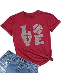 NANYUAYA Womens Funny Graphic Tshirts Tunic Short Sleeve Casual Tee Tops