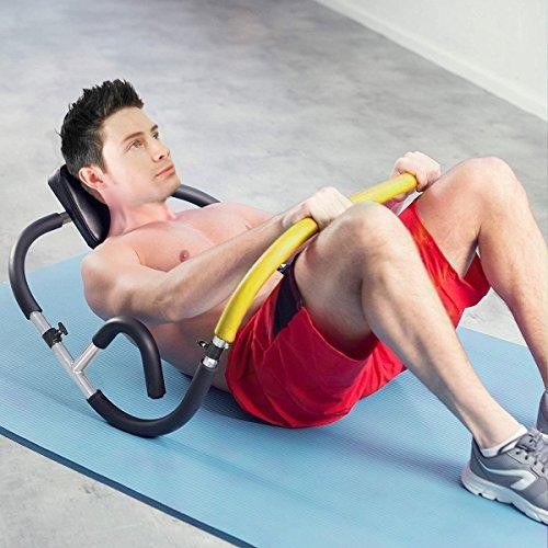 HOMCOM Ab Roller Abdominal Crunch Sit Up Machine Abs Trainer Gym Fitness