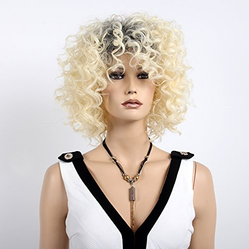 Stfantasy Wigs for Women Short Curly Heat Resistant Synthetic Hair 14