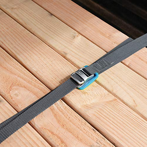 Nite Ize CamJam Tie Down Strap, One-Of-A-Kind Zinc Alloy Buckle + Extra Strong Webbing, 700LB Load Limit, 6 FT Webbing