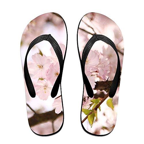 Branch Flower Plum (Jinqiaoguoji Custom Casual Ornamental Sakura Flowers Pink Tree Spring Branch Plum Womens Sandals Beach Sandals Pool Party Slippers Flip Flops)